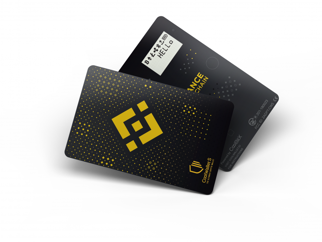 Binance's co-branded CoolWallet S